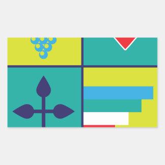 Sticker Rectangulaire Manteau des raisins de bras et de bouclier de