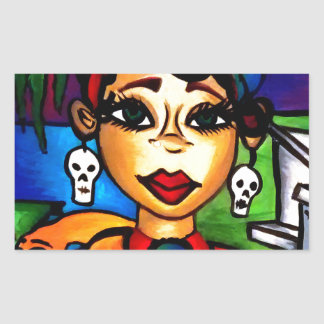 Sticker Rectangulaire Marie Laveau