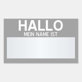 Sticker Rectangulaire Masquez bonjour mon nom est… personnalisable