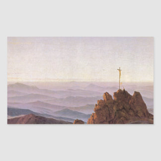 Sticker Rectangulaire Matin dans Riesengebirge - Caspar David Friedrich