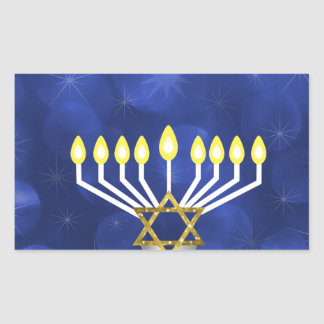Sticker Rectangulaire Menorah