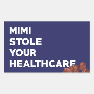 Sticker Rectangulaire Mimi a volé vos soins de santé