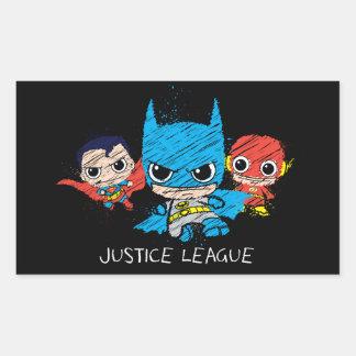 Sticker Rectangulaire Mini croquis de ligue de justice
