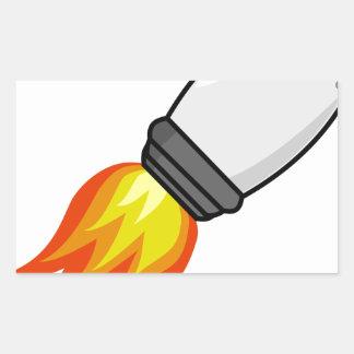 Sticker Rectangulaire Missile de Rocket