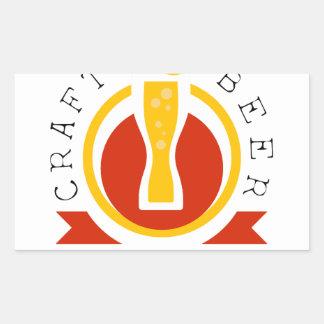 Sticker Rectangulaire Modèle de conception de logo de brasserie de bière