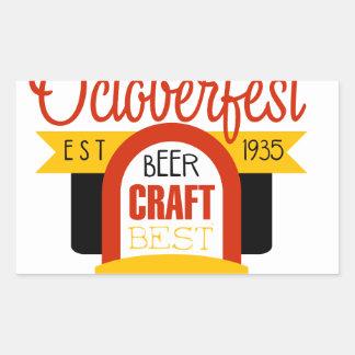 Sticker Rectangulaire Modèle de conception de logo d'Oktoberfest
