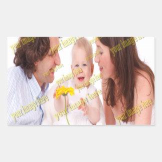 Sticker Rectangulaire Modèle photo de souvenirs d'image de famille