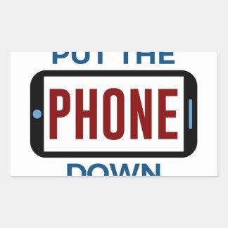 Sticker Rectangulaire Moins de téléphone plus de contact humain de