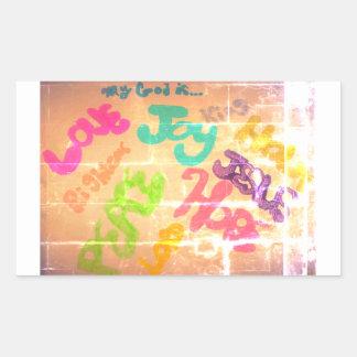Sticker Rectangulaire Mon Dieu est…