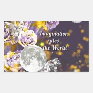 Sticker Rectangulaire Mon imagination est sans fin
