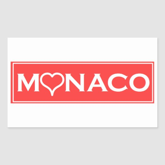 Sticker Rectangulaire monaco