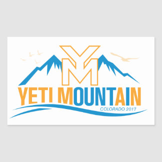 Sticker Rectangulaire Montagne le Colorado 2017 de YetiMan