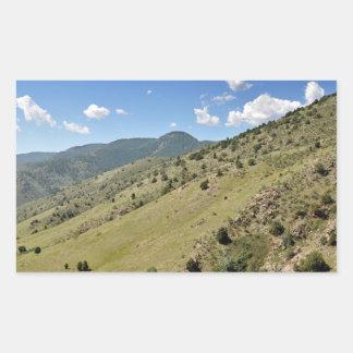 Sticker Rectangulaire montagnes en Morrison le Colorado