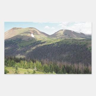 Sticker Rectangulaire montagnes rocheuses dans le Colorado