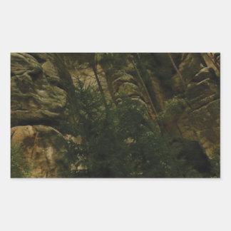 Sticker Rectangulaire morceaux et bosses de roche