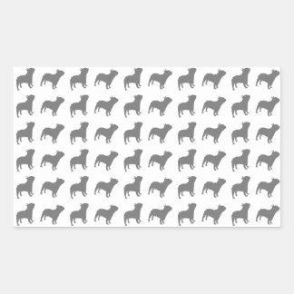 Sticker Rectangulaire Motif de bouledogue français