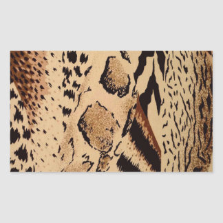 Sticker Rectangulaire Motif de guépard