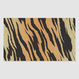 Sticker Rectangulaire Motif de tigre