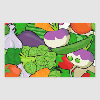 Sticker Rectangulaire Motif végétal