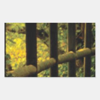 Sticker Rectangulaire mousse sur la barrière