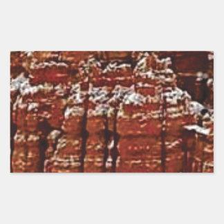Sticker Rectangulaire mur de roche de forme de forme d'érosion