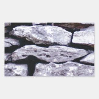 Sticker Rectangulaire mur empilé de roche
