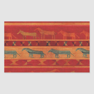 Sticker Rectangulaire Mustangs gitans sauvages