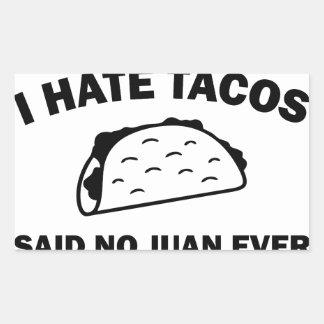 Sticker Rectangulaire N'a dit aucun Juan jamais
