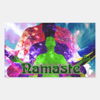 Sticker Rectangulaire Namaste
