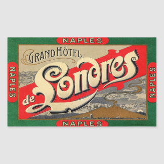 Sticker Rectangulaire Naples (Grand Hotel de Londres)