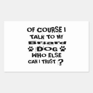 Sticker Rectangulaire Naturellement je parle à mes conceptions de chien