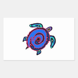 Sticker Rectangulaire Navigation tribale