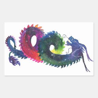 Sticker Rectangulaire Nébuleuse d'arc-en-ciel de Draco