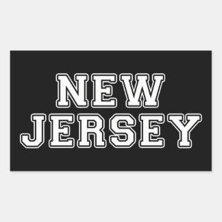 Sticker Rectangulaire New Jersey
