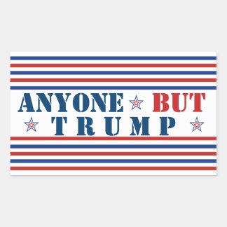Sticker Rectangulaire N'importe qui mais Trump l'Anti-Atout 2016