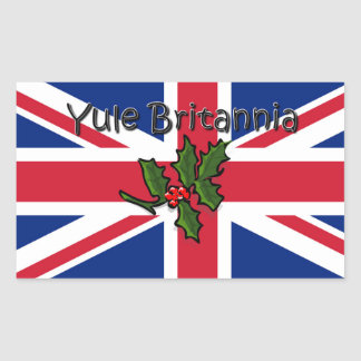 Sticker Rectangulaire Noël Britannia