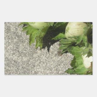 Sticker Rectangulaire Noisettes vertes fraîches sur le plancher