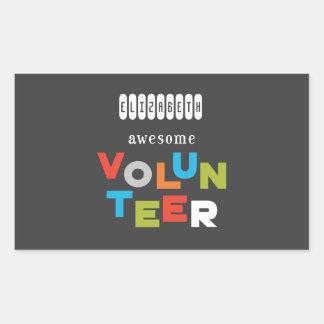 Sticker Rectangulaire Nom fait sur commande, appréciation volontaire