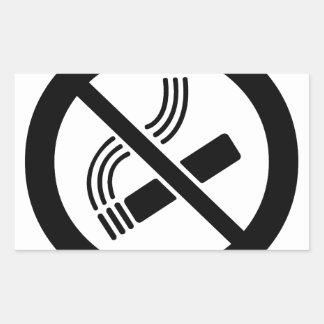 Sticker Rectangulaire Non-fumeurs