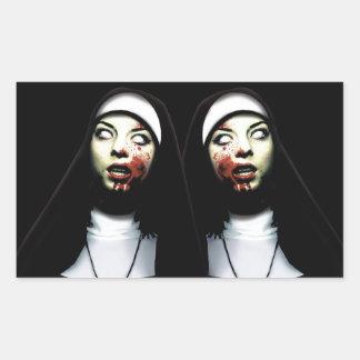 Sticker Rectangulaire Nonnes d'horreur