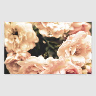 Sticker Rectangulaire Nostalgie de roses