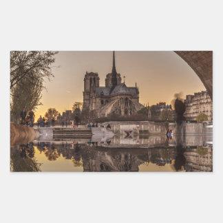 Sticker Rectangulaire Notre-Dame, PAris, France