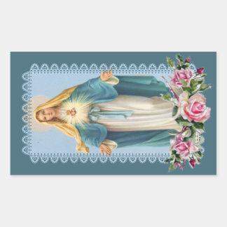 Sticker Rectangulaire Notre Madame des roses de rose de grâce