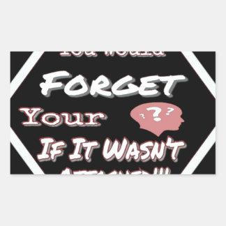 Sticker Rectangulaire N'oubliez pas votre tête