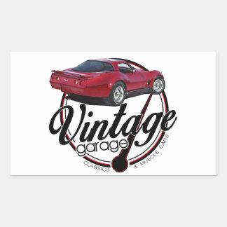 Sticker Rectangulaire nouveau vette vintage de garage