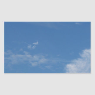 Sticker Rectangulaire nuages bleu-foncé de blanc de ciel