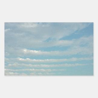 Sticker Rectangulaire nuages d'ondulation de ciel bleu