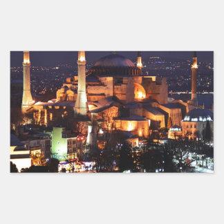 Sticker Rectangulaire Nuit de Hagia Sophia