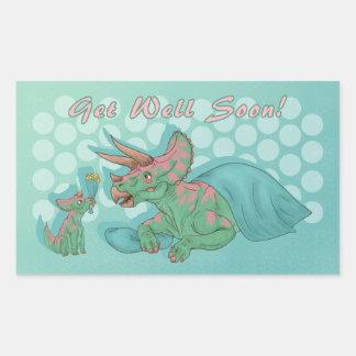 Sticker Rectangulaire Obtenez bientôt le Triceratops bon