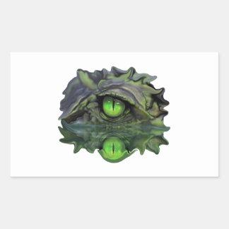 Sticker Rectangulaire Oeil reptile